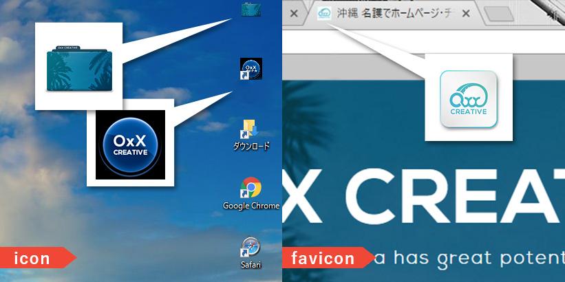 icon(アイコン・ショートカットアイコン)・favicon(ファビコン)とは