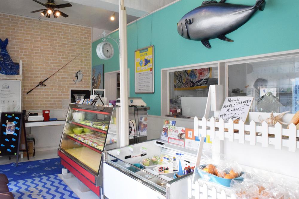 名護お魚屋さん店内の様子