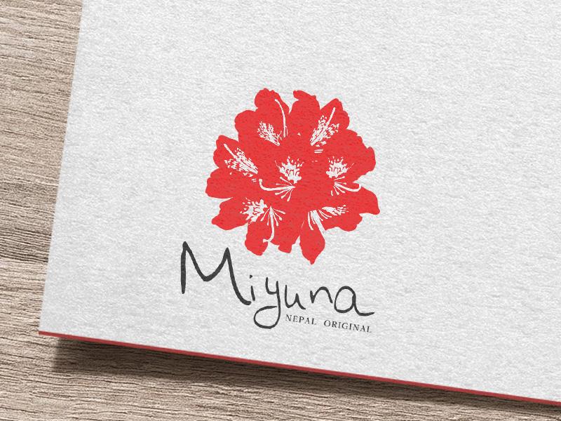 ネパールで開業されるMiyuna様のロゴを制作させて頂きました。